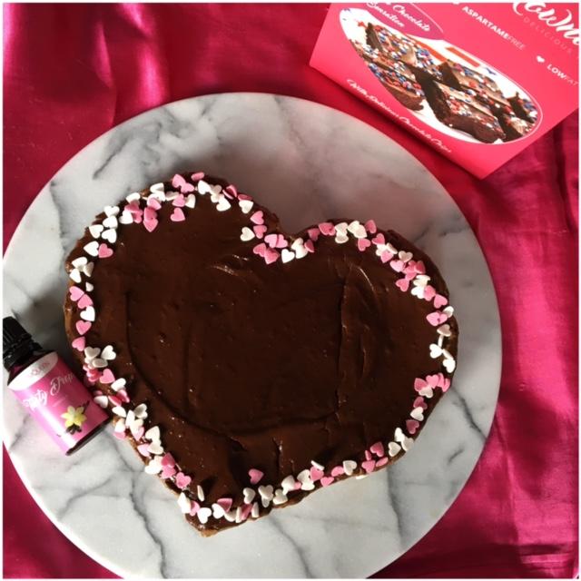 Happy Healthy Valentine's chocolate cake
