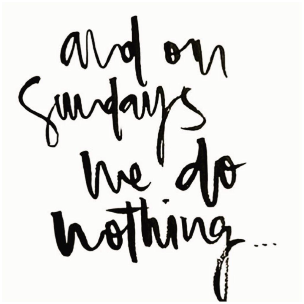 July's guilty pleasure: Lazy Sundays