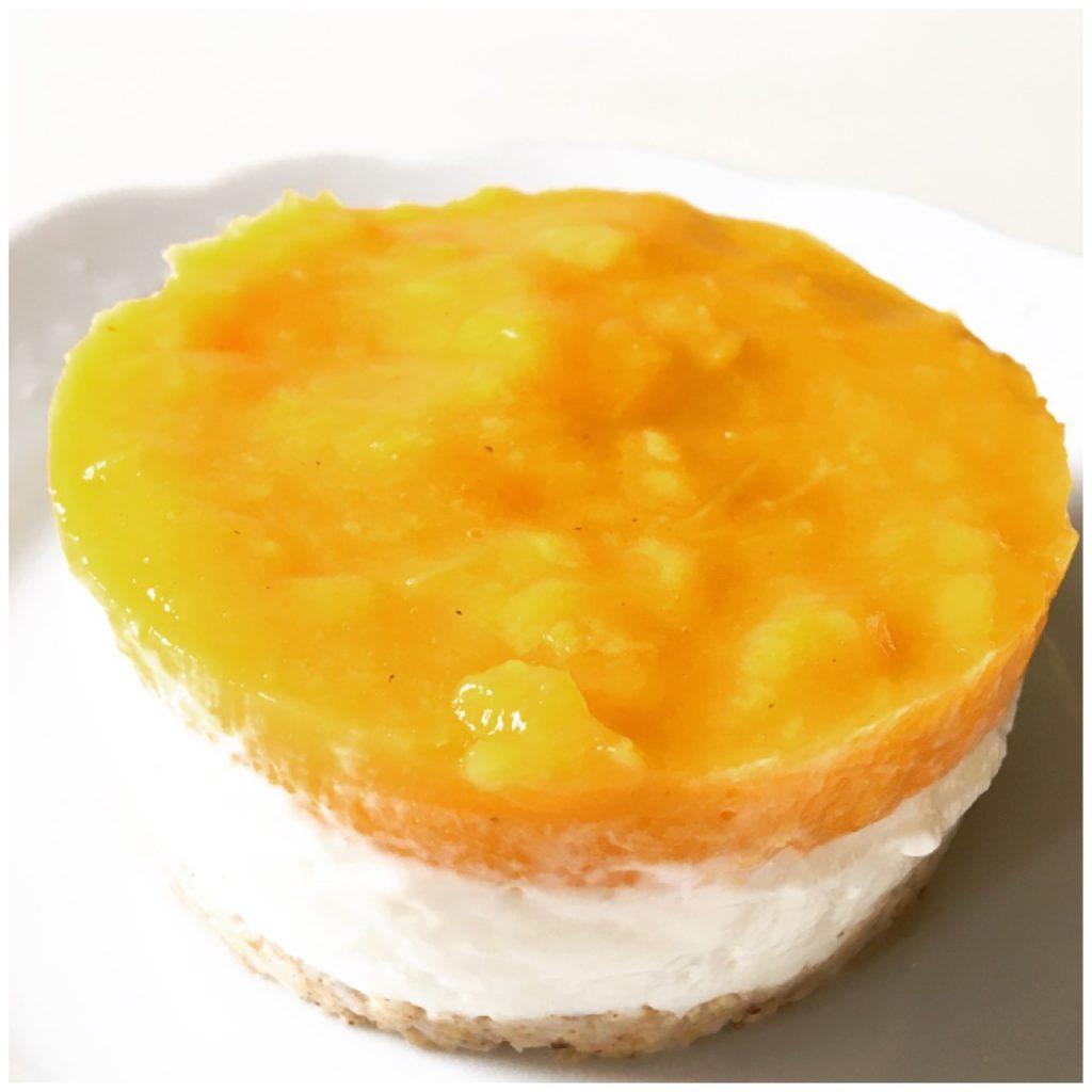 Mango coconut no bake cheesecake