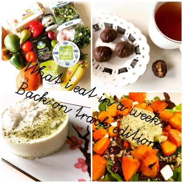 What i eat in a week: back on track edition