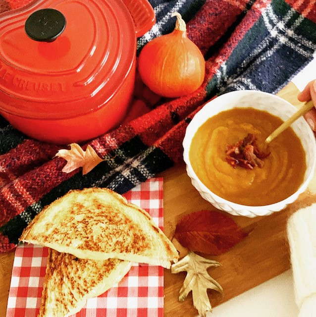 Sweet potato pumpkin soup