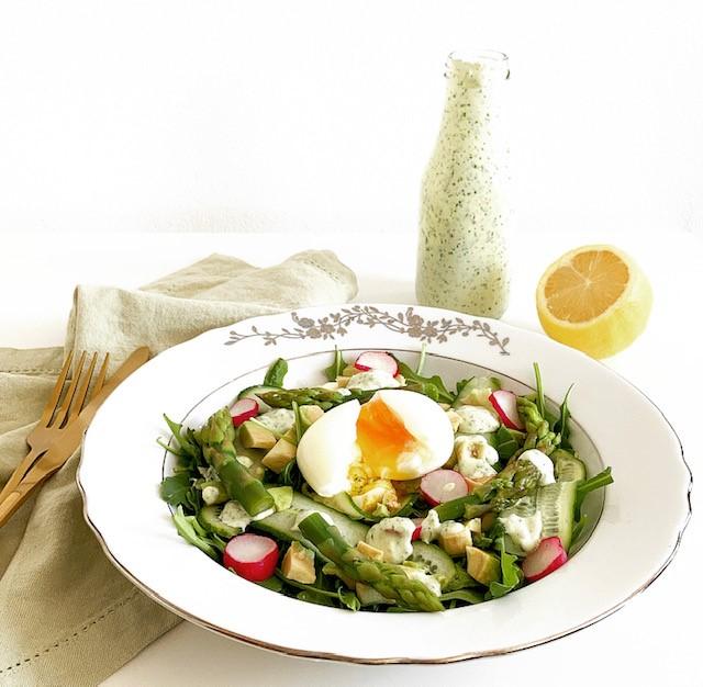 Salad with Green Goddess Dressing
