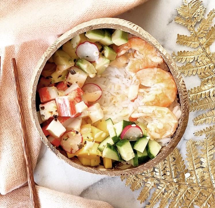 Pokébowl with surimi & shrimp