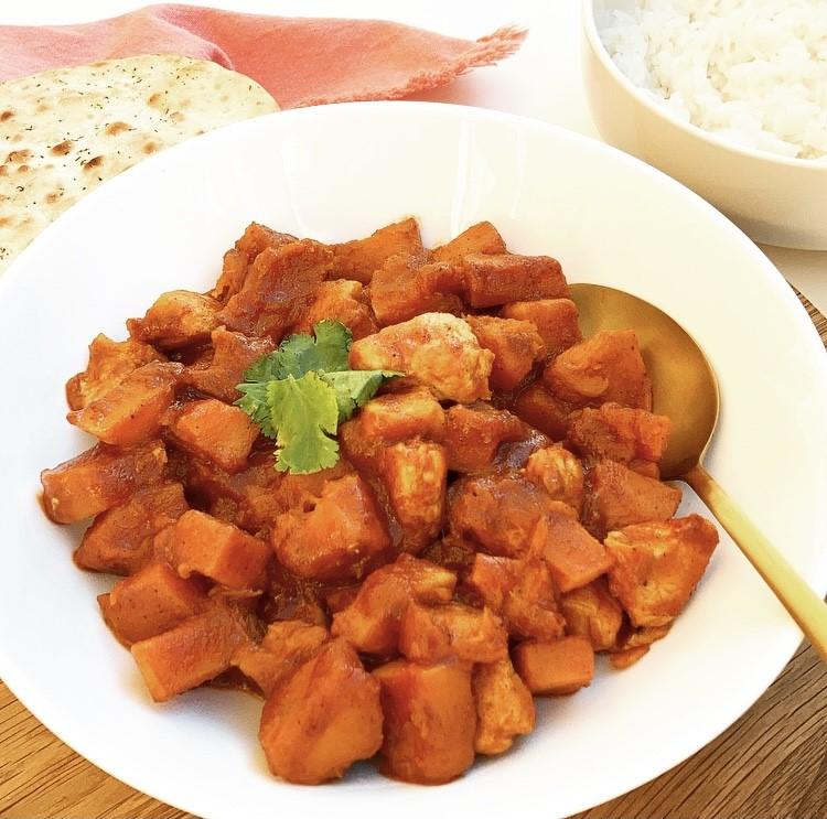 Roasted pumpkin & chicken Curry