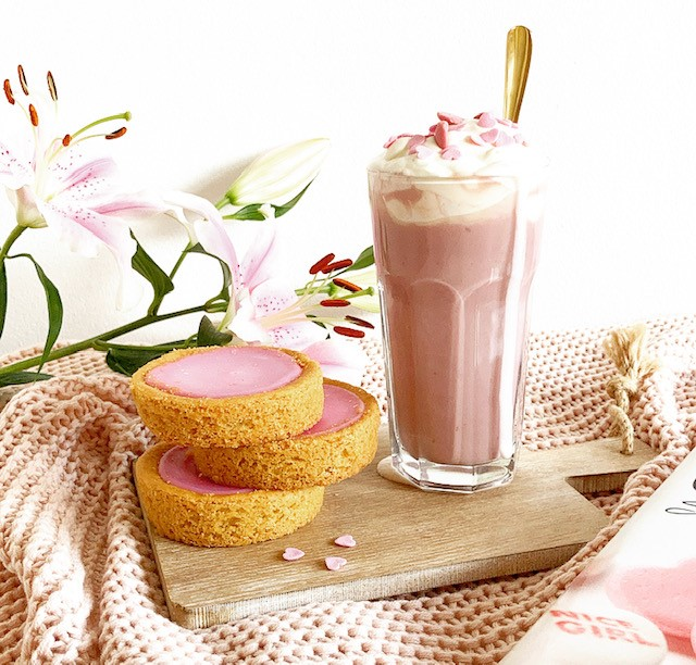 Pink Hot Chocolate milk
